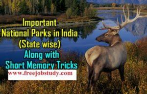 National Park in India in Hindi | भारत के राष्ट्रीय उद्यान/अभ्यारण/ चिड़ियाघर