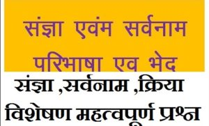 Samvida General Hinidi Sangya Sarvanam | संज्ञा  एवं सर्वनाम बहुविकल्पीय प्रश्न