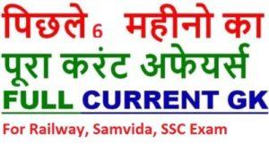 Current Affairs For All Competitive Exam 2018-19 Samvida,Railway