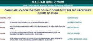Gauhati High Court Recruitment 2018 Apply Online For Post – 158