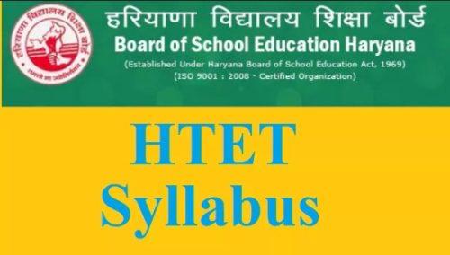 Haryana Teacher Eligibility Test Syllabus Level-1,2,3   HTET Syllabus