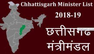 CG Government New Cabinet Minister List 2018-19 छत्तीसगढ़ मंत्रिमंडल   Updated