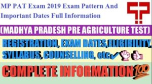 MP PAT Exam 2019 : Application Form, Exam Pattern, Dates & Syllabus