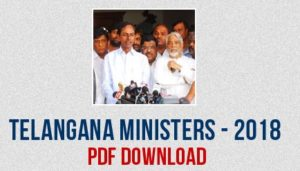 Telangana Current Cabinet Ministers List 2018-19   Updated