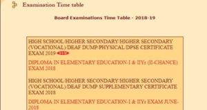 MP Board 10th Time Table 2019 Hindi Medium Regular / Private