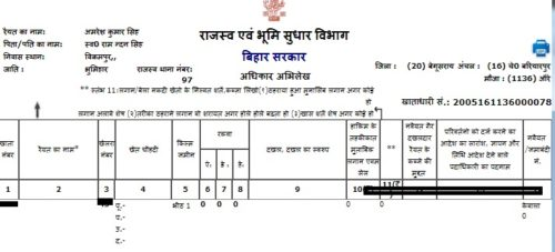 Bihar Land Record Khata Khasra 2018-19| बिहार खसरा